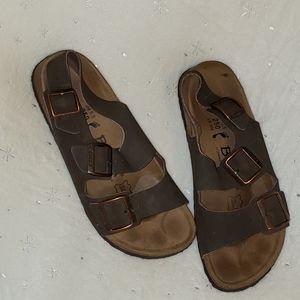 Betula Birkenstock 39 L8 M6  Brown Leather